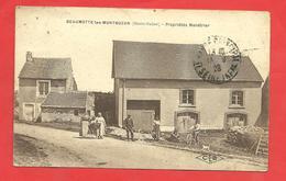 CPA 1928 Beaumotte-les-Montbozon (70) Propriétés Ménétrier Personnages (qqles Traces,état) - Frankreich