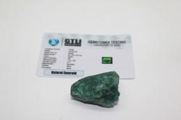 Smeraldo Grezzo - Ct. 193 - Certificato GTLI 77008 - Emeraude