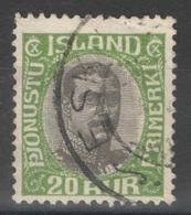 Islande - Service - YT 38 Oblitéré - Officials