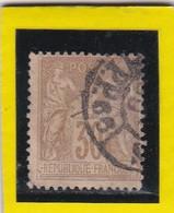 N° 80  TYPE SAGE + CACHET  A DATE  PARIS JOURNAUX PP 66  - REF 24-24 - 1876-1898 Sage (Type II)