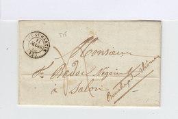 Sur Lettre AC CAD Puy St Martin Mars 1845. Oblitération Manuelle.CAD Salon. (889) - Marcophilie (Lettres)
