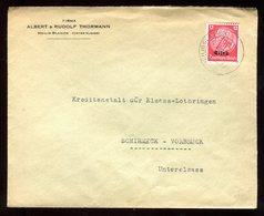 Enveloppe Commerciale De Heilig Blasien Pour Schirmeck Vorbruck En 1941 - N121 - Marcofilia (sobres)