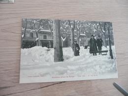 CPA 34 Hérault Béziers Sous La Neige Hiver 1914 N°17 Les Allées - Beziers
