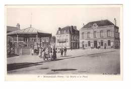 59 Rosendael La Mairie Et La Place Cpa Carte Animée Kiosque à Musique - Autres Communes