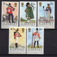 ALDERNEY/AURIGNY ( POSTE ) : Y&T  N°  23/27  TIMBRES  NEUFS  SANS  TRACE  DE  CHARNIERE . - Alderney