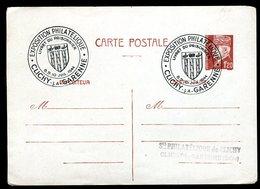 Oblitération Temporaire De Clichy La Garenne Sur Entier Postal En 1944 - N124 - Marcophilie (Lettres)