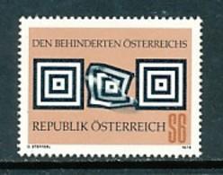 ÖSTERREICH Mi. Nr. 1585 Weltkongress Der Internationalen Liga Zugunsten Geistig Behinderter - MNH - 1945-.... 2. Republik