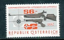 Österreich Mi.Nr. 1599 Europameisterschaften Im Luftgewehr- Und Luftpistolenschießen, Graz - MNH - 1945-.... 2. Republik