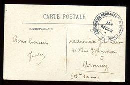 """Cachet """" Commission Permanente De Réquisition """" Sur Carte Postale - N128 - Marcophilie (Lettres)"""