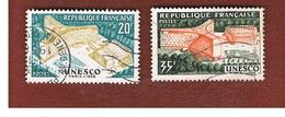 FRANCIA (FRANCE) -   SG 1400.1401  -    1958  UNESCO BUILDING (COMPLET SET OF 2) - USED - France