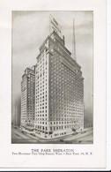 Carte 1920 THE PARK SHERATON HOTEL A NEW YORK - Cafés, Hôtels & Restaurants