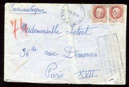 Enveloppe En Pneumatique De Paris En 1943 - N131 - Marcophilie (Lettres)