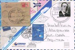 1987 AEROFILA 2012 SOCIEDAD ARGENTINA DE AEROFILATELIA ENTIERS CIRCULATED ENTERO CIRCULADO ARGENTINA FDC -LILHU - Post