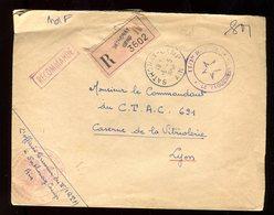 Enveloppe En Recommandé Du Camp De Sathonay En 1958 Pour Lyon - N132 - Marcophilie (Lettres)