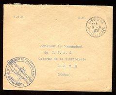 Enveloppe En FM De Aiguilles En 1957 Pour Lyon - N133 - Marcophilie (Lettres)