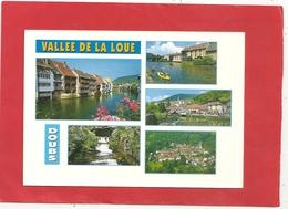 """CPM . MULTIVUES """"  VALLEE DE LA LOUE - ORNANS - VUILLAFANS - LODS & MOUTHIER  """"  CARTE NON ECRITE - France"""