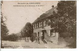 CHALAMPE  SOUVENIR  -  Café-Restaurant De La Couronne,P.E. LUCAS - Chalampé