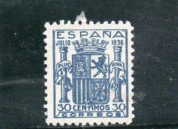 ESPAGNE 1936 * REIMPRESION/REPRINT - 1931-50 Neufs