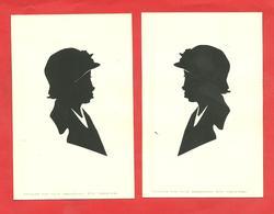 Silhouettes Bustes De Femme Les 2 Profils Découpés Par F.Odzikowski -efo-.Paris 1934 - Silhouettes