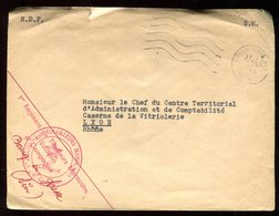 Enveloppe En FM De Bourg En Bresse Pour Lyon En 1958 - N139 - Marcophilie (Lettres)