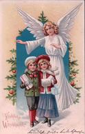Fröhliche Weihnachten, Ange Et Enfants (24.12.1905) - Santa Claus
