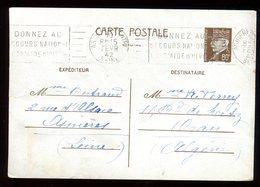 Entier Postal De Asnières Pour Oran En 1942 - N141 - Entiers Postaux