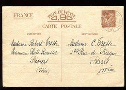 Entier Postal De Biviers Pour Paris En 1941 - N144 - Entiers Postaux