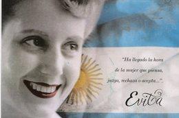 EVITA CAPITANA UNIDAD CIVICA PERON PERONISMO FEMINISMO ENTIERS CIRCULATED ENTERO CIRCULADO ARGENTINA FDC -LILHU - Famous Ladies
