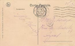 547/27 - OCTOBRE 1914 - Carte En Service Militaire De GAND à GAND - Arrivée 11 X 1914 ( Chute De GAND Le 14 Octobre ) - WW I