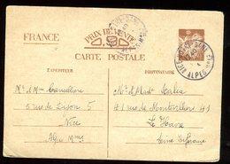 Entier Postal De Nice Pour Le Havre En 1941 - N146 - Entiers Postaux