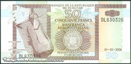 TWN - BURUNDI 36f - 50 Francs 1.5.2006 Prefix DL UNC - Burundi