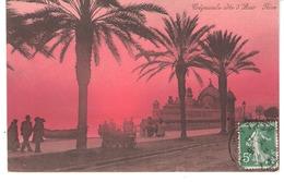 Nice (Alpes Maritimes)-1913-Crépuscule Sur Le Palais De La Jetée-animée-Côte D'Azur-Edition Giletta - Nice