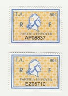 Série Timbres Fiscaux -  2 Timbres Amende Millésime 02 - 03 - Steuermarken