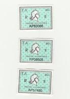 Série Timbres Fiscaux -  3 Timbres Amende Millésime 01 - 02 - 03 - Fiscaux