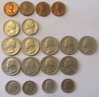 Etats-Unis - Vrac De 19 Monnaies Principalement Années 60 Et 70 - Etats-Unis