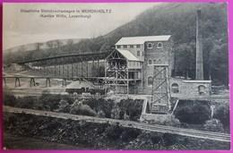 Cpa Staatliche Steinbruchanlagen In MERCKHOLTZ Kanton Wiltz Luxemburg Carte Postale Luxembourg Kiischpelt Rare - Wiltz