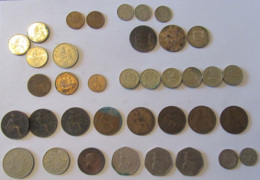 Grande-Bretagne / Royaume-Uni / Angleterre / Jersey - Vrac De 37 Monnaies 19 Et 20e Siècles Dont Britannia 1806 - Collections