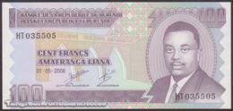 TWN - BURUNDI 37e - 100 Francs 1.5.2006 Prefix HT UNC - Burundi