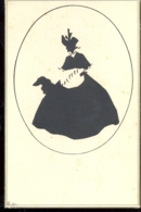 CPA SILHOUETTE, WOMAN AND DOG - Silhouettes