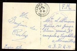 Carte Postale En FM De Tarbes Pour Marseille En 1942 - N152 - Marcophilie (Lettres)