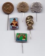 6 Different Pins Mate Parlov Yugoslavia Boxing Box World, European, Olympic Champion - Habillement, Souvenirs & Autres