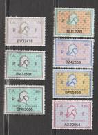 Série Complète 7 Timbres Fiscaux Millésime 01 -  7 Timbres Amende - Revenue Stamps