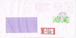 30543. Carta Certificada WEILHEIM (Alemania Federal) 1987. Franqueo Mecanico SCHNEIDER - [7] República Federal