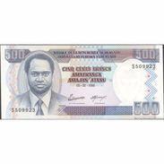 TWN - BURUNDI 37A - 500 Francs 5.2.1995 Prefix S UNC - Burundi