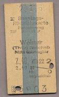 BRD - Pappfahrkarte (DR) -  Erfurt - Weimar Von 1961 - Bahn