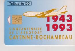 TELECARTE - GUYANE - 1943-1993 - CINQUANTENAIRE DE L'AEROPORT - 50 Unités - Guyane