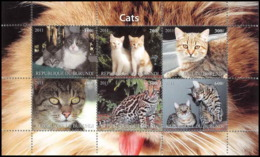 0409/ Burundi Bloc Chats (chat Cats Cat) Neuf ** MNH - Gatos Domésticos
