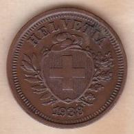 SUISSE. 1 RAPPEN 1938 B. BRONZE - Suiza