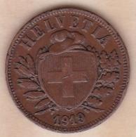 SUISSE. 2 RAPPEN 1919 B. BRONZE - Schweiz