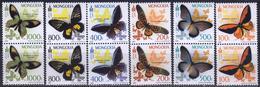 Mongolia 2010 6 Pairs  MNH  Butterflies - Papillons
